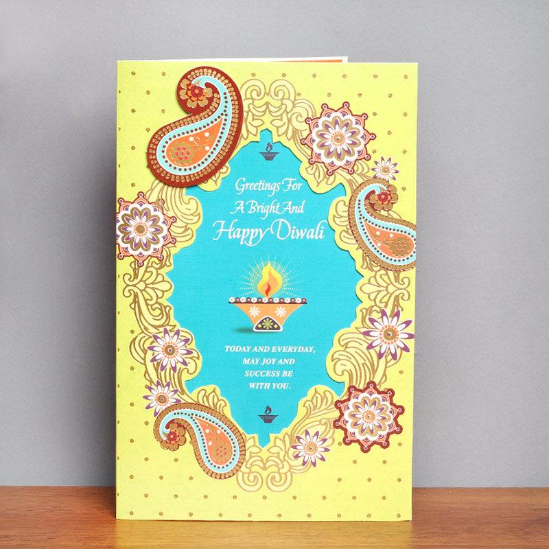 Ethnic Feels Diwali Card - Diwali Greeting Card