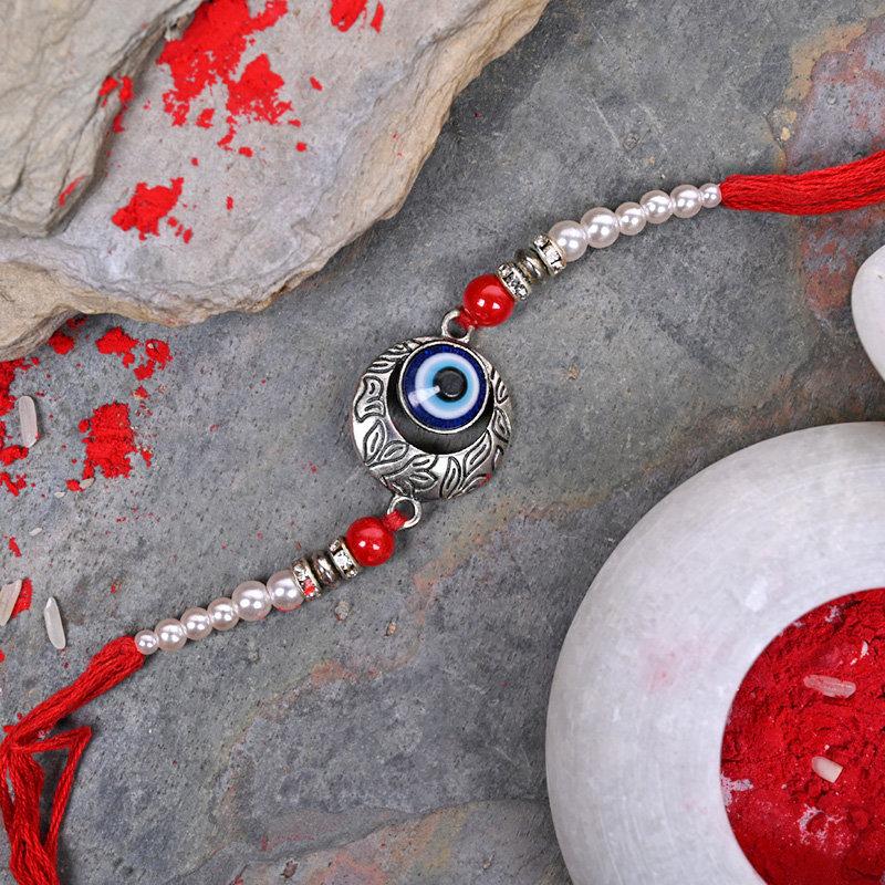 Evil Eye N Pearl Rakhi - One Designer Rakhi