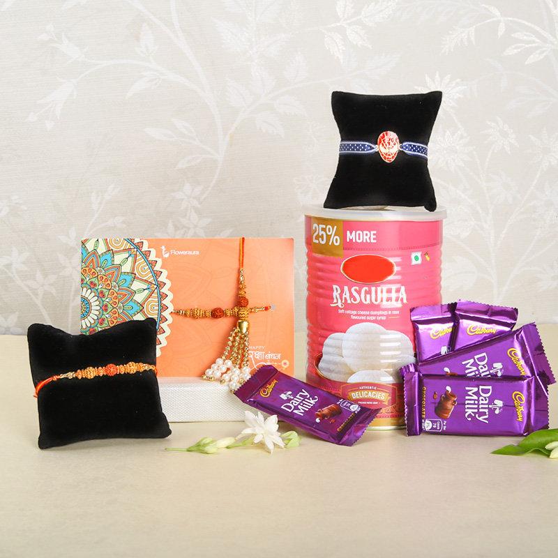 Exclusive Rakhi And Sweet Combo