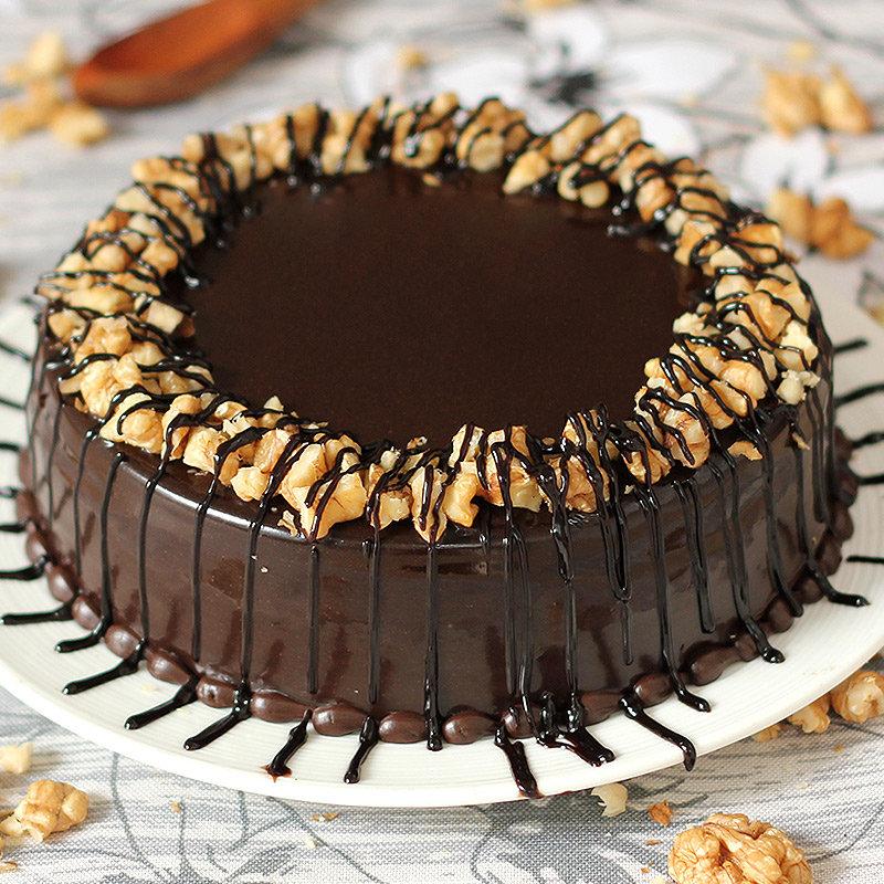 Choco Walnut Cake - Zoom View