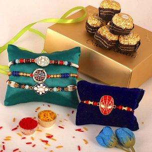 Exquisite Chocolaty Rakhi Hamper