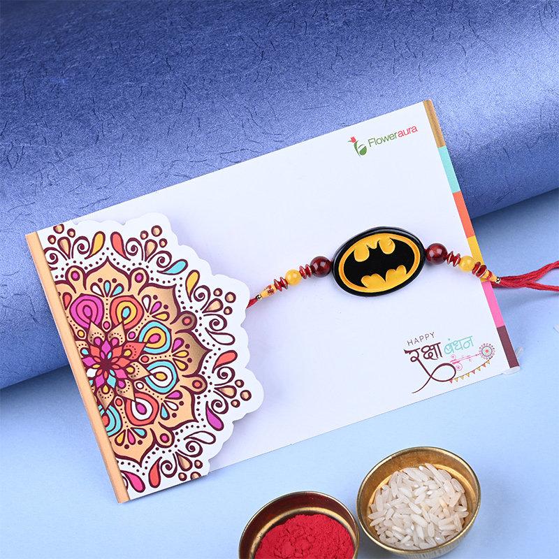 Third Product of Exquisite Family Rakhi Pack - Set of Bhaiya Bhabhi Designer Rakhi