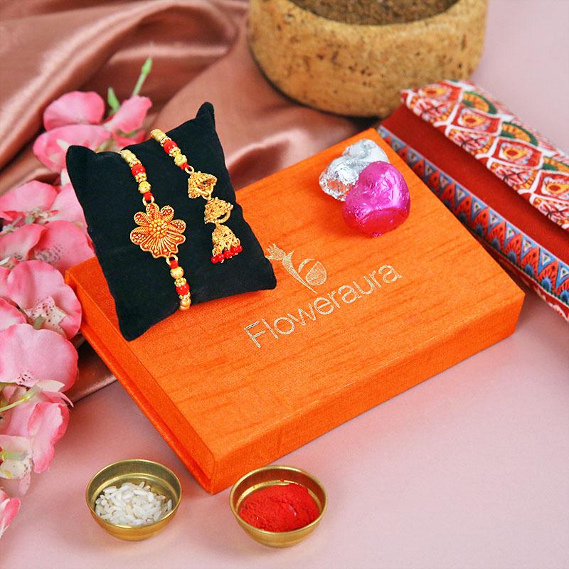 Bhaiya Bhabhi Rakhi and Handmade Chocolate - FA Bhai Bhabhi Rakhi Box