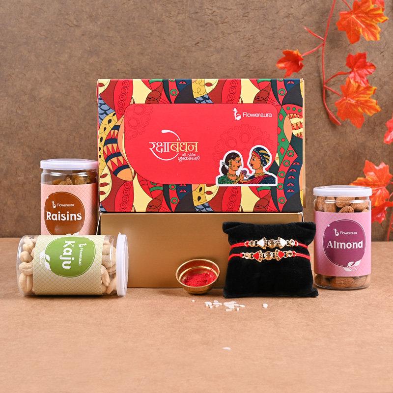FA Rakhi Signature Box - Set of 2 Designer Rakhi