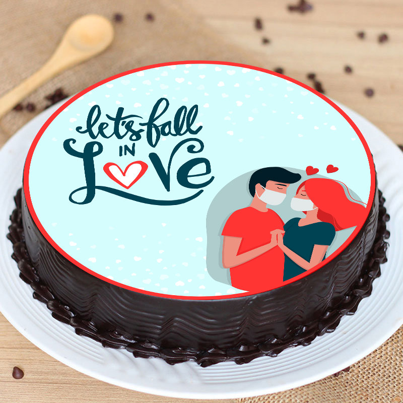 Fall In Love Poster Cake