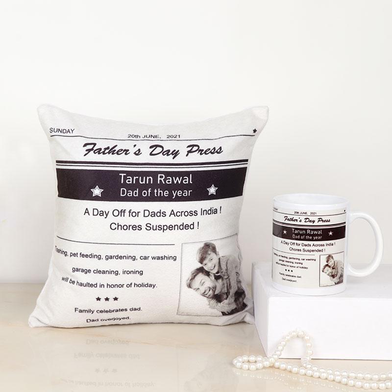 Cute Fathers Day Cushion And Mug Combo