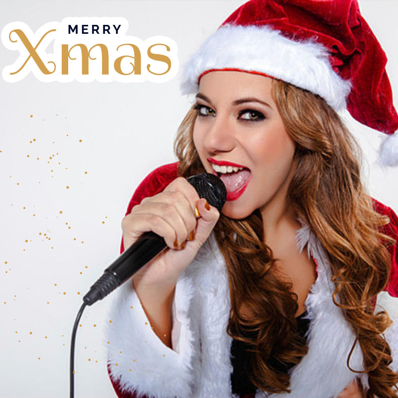 Female singer Chistmas greetings