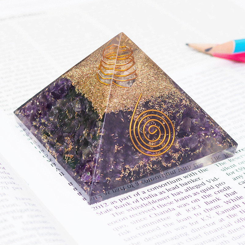 Feng Shui Pyramid Prism - Pyramid Prism FengShui Reiki Crystal Home Décor