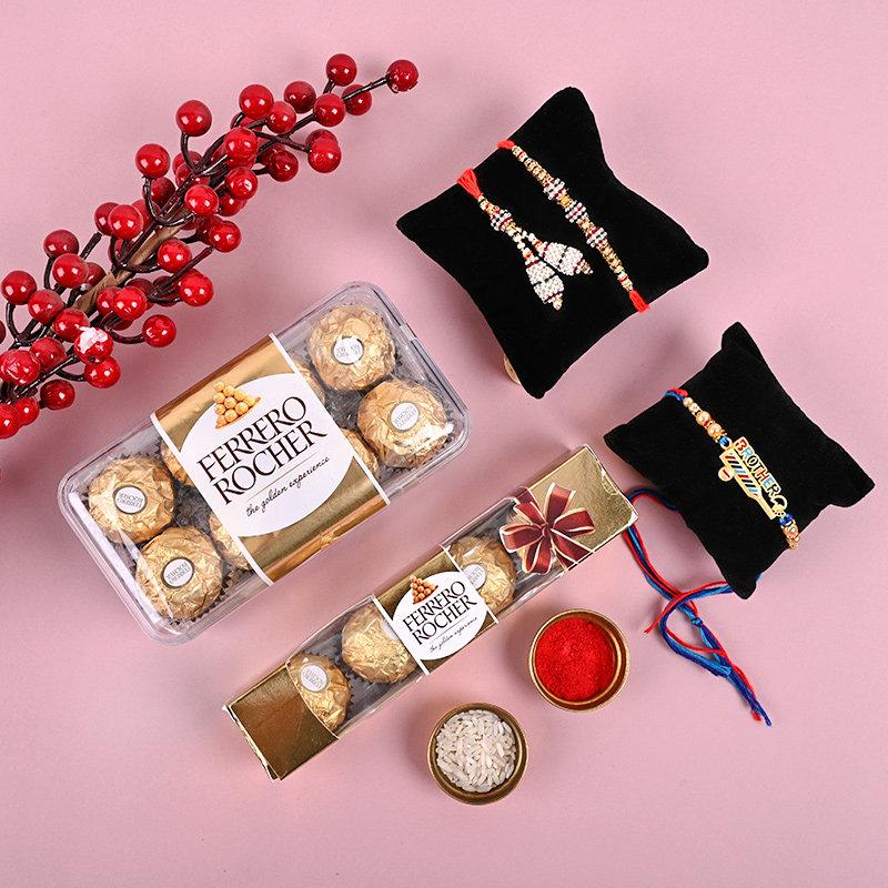 Ferrero and Traditional Rakhi Combo