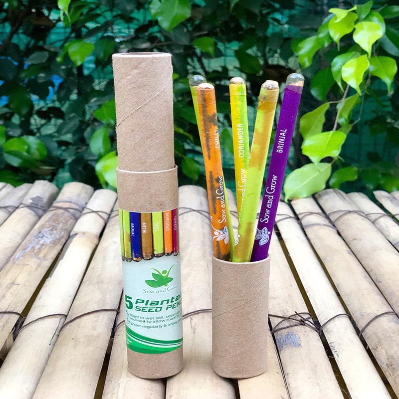 Five Plantable Seed Pencil