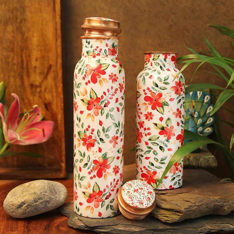 Floral Copper Bottle Combo