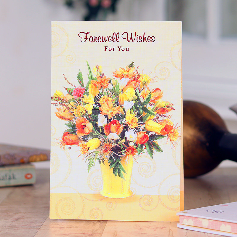 Floral Farewell Greeting Card