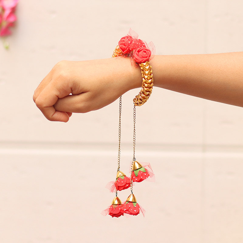 Product View in Floral Lumba Rakhi Set for Bhaiya Bhabhi