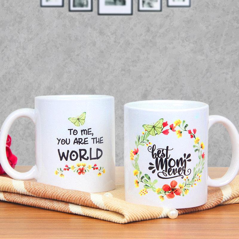 Floral Mom Mug - A Mothers Day Special Flower Printed Mug