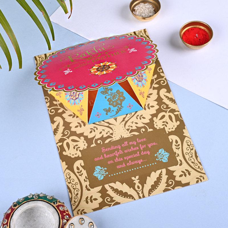 Floral Rakhi Card