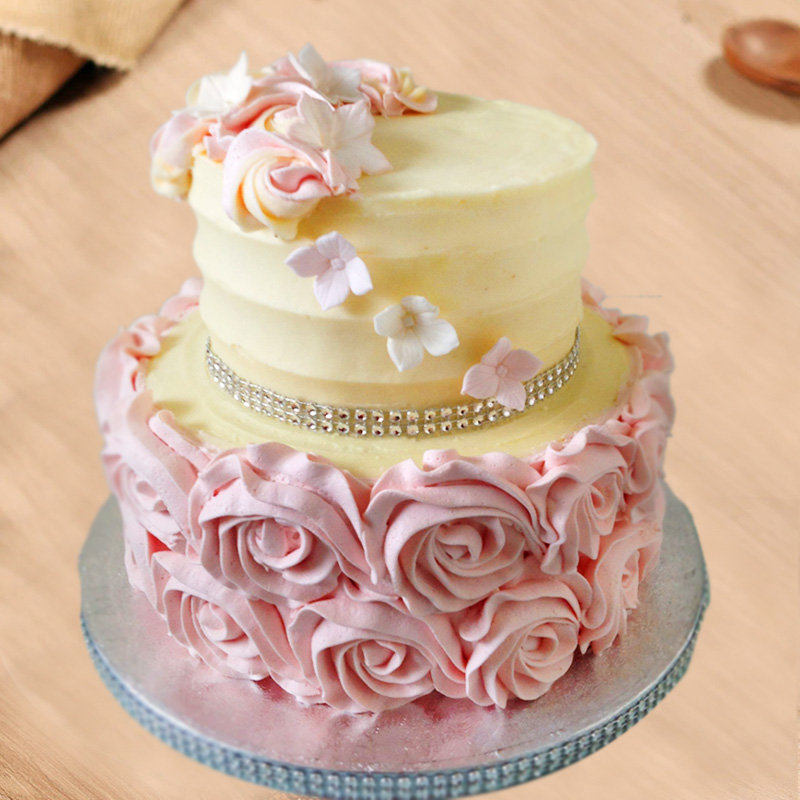 2 Tier Anniversary Theme Cake