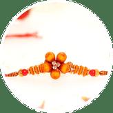 Send Flower rakhi online to India