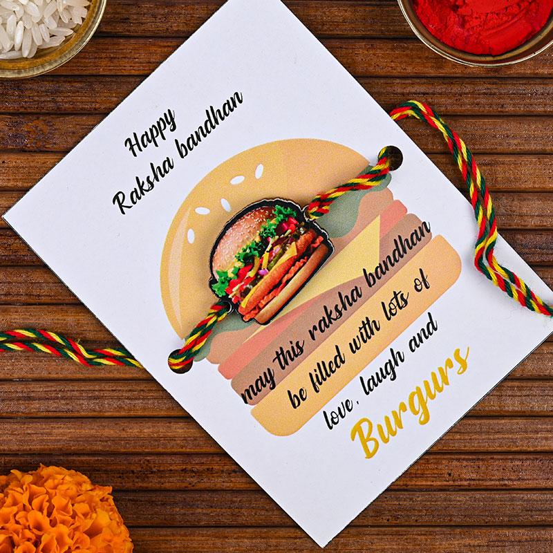 Foodie Burger Rakhi - Quirky Rakhi, Fancy rakhi