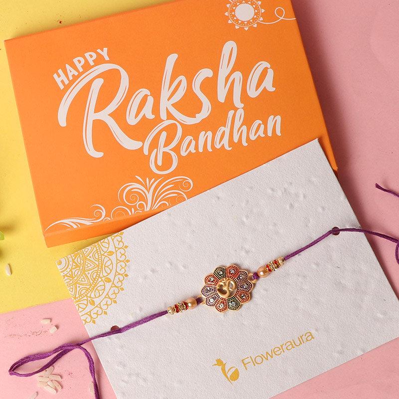 Rakhi Card in Rakhi with Gifts Online - For Brother Rakhi Combo