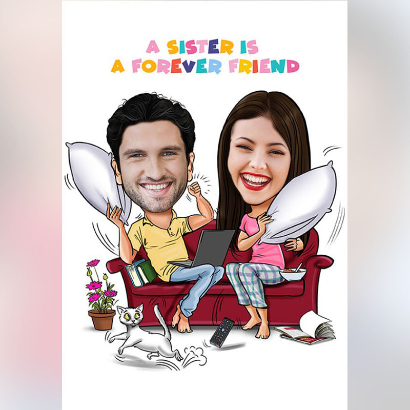 Forever Friend Sis Caricature