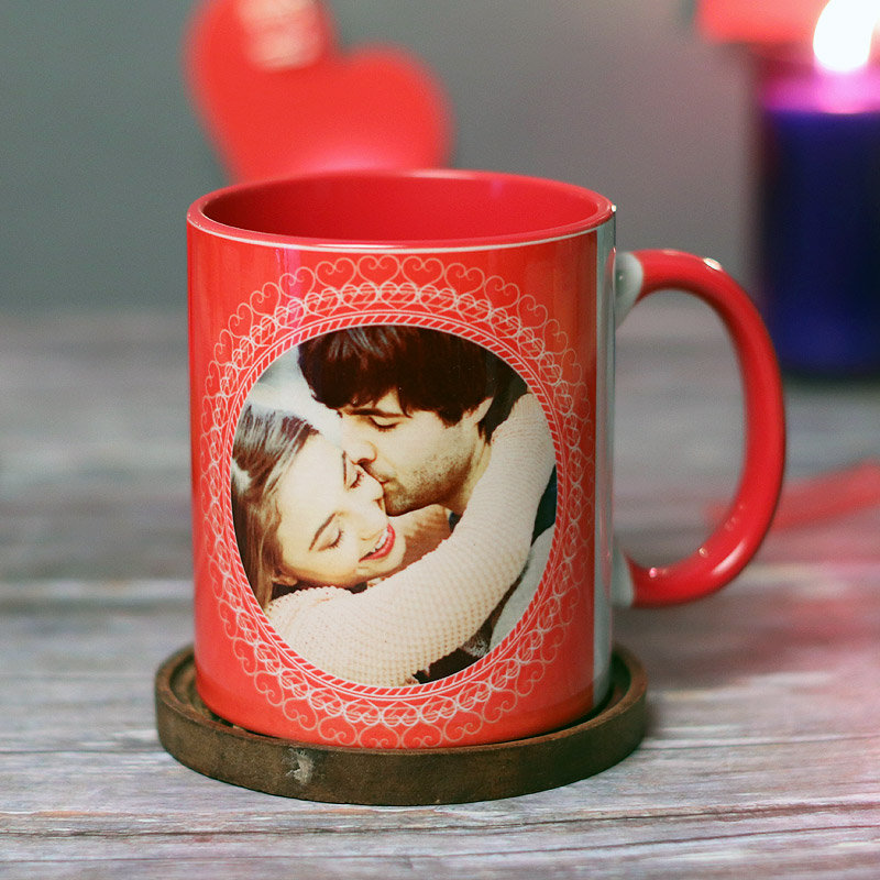 Personalised Photo Mug With Valentine Couple Pic