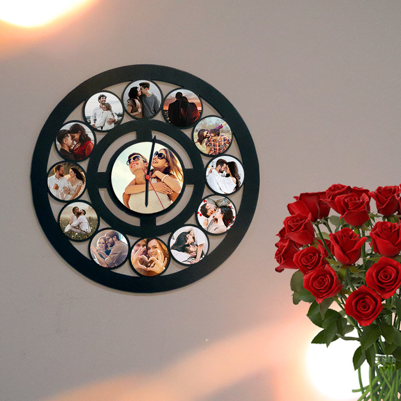 Photo Wall Clock Gift for Couple