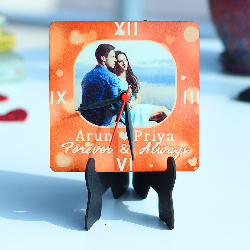Personalized Photo Clock Valentine Gifts