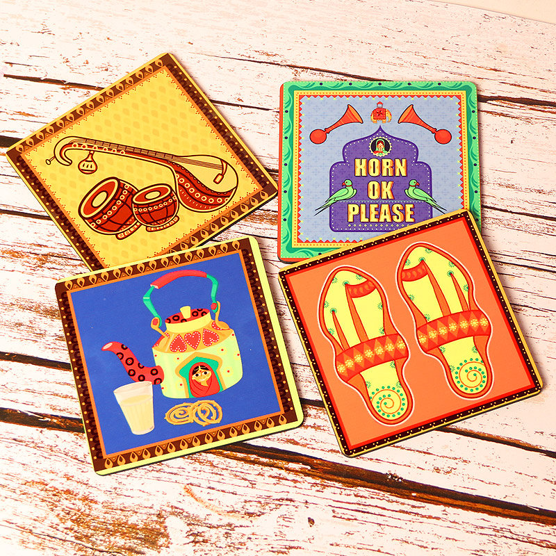 Quirky Desi Coaster Set