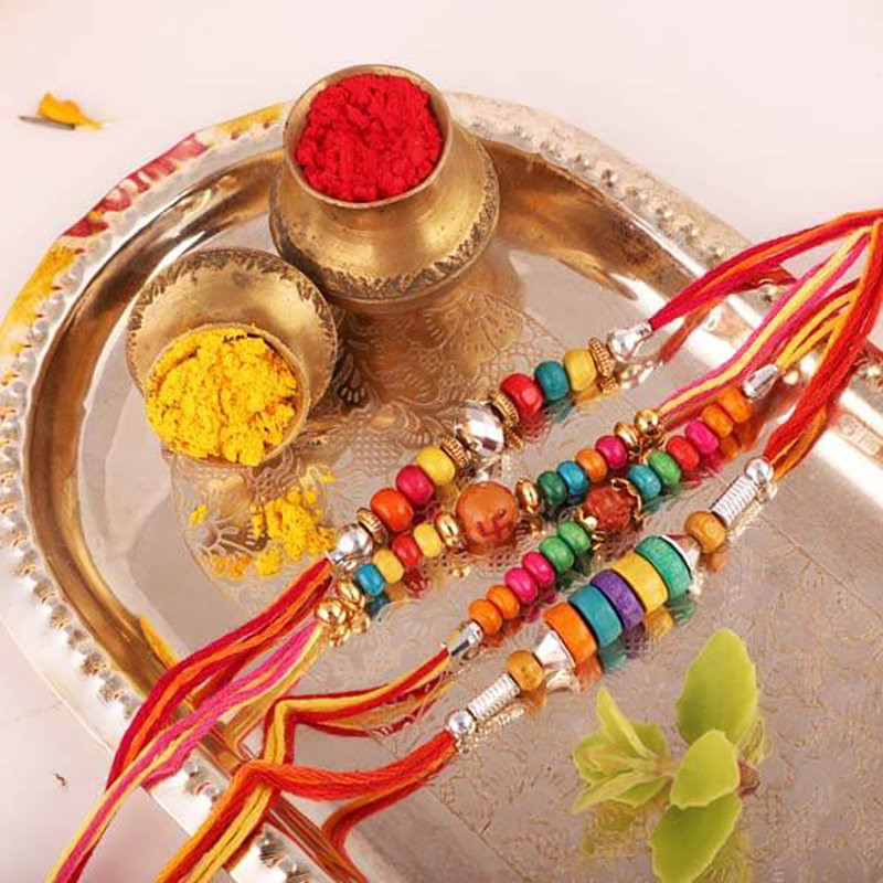 Four Traditional Rakhi Set