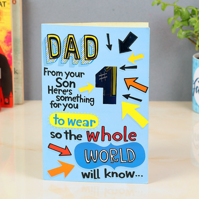 Greeting Card From Son To Dad