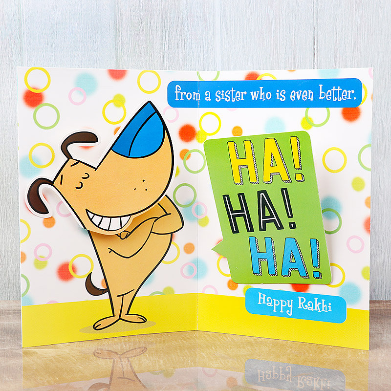 Fun Filled Rakhi - A Greeting Card for Brother - Rakhi Greeting Cards Online for Raksha Bandhan