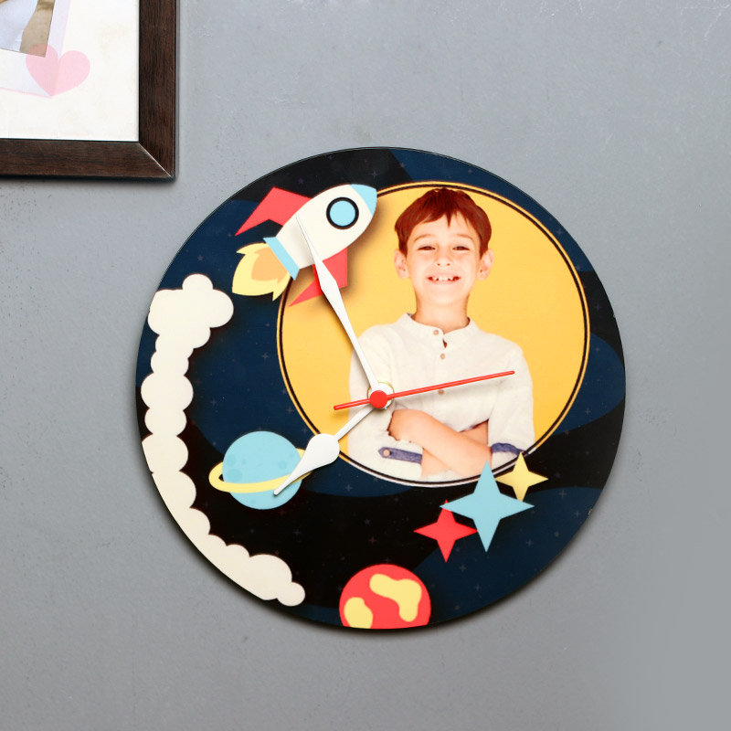 Galaxy Picture Clock - Personalised Wall Clock