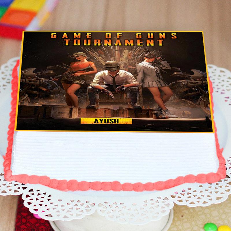 Game Of Guns PUBG Poster Cake