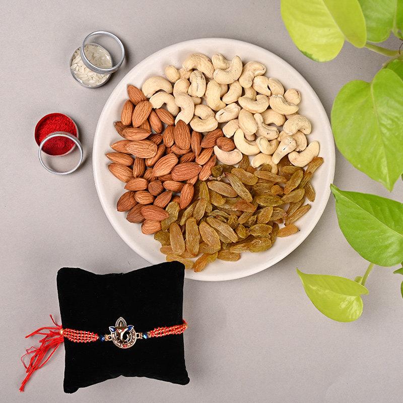 Ganesh Rakhi N Dry Fruits Combo