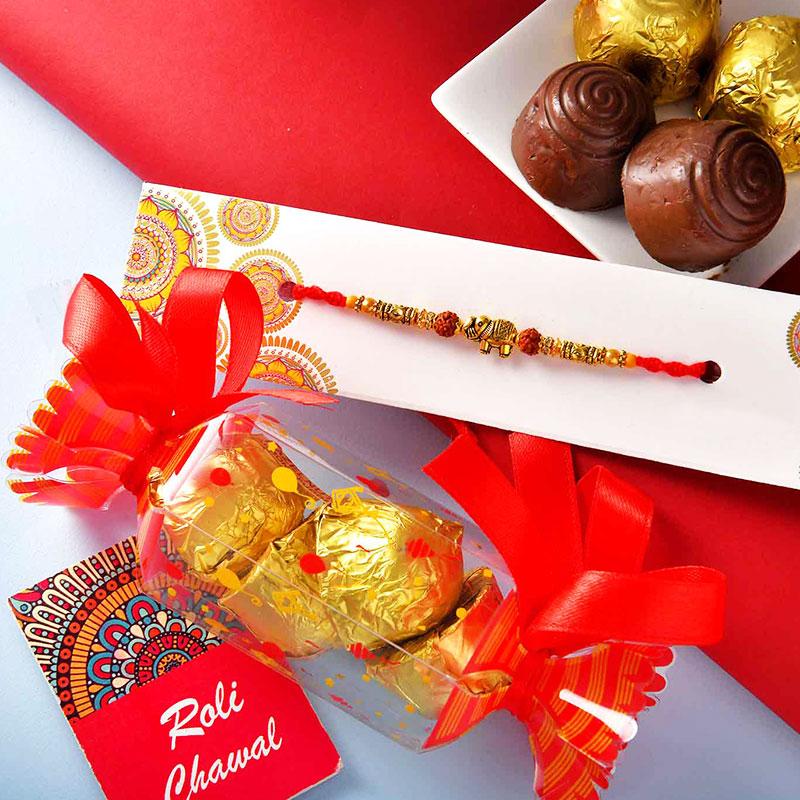 Ganesh Rakhi With Mixed Chocolates