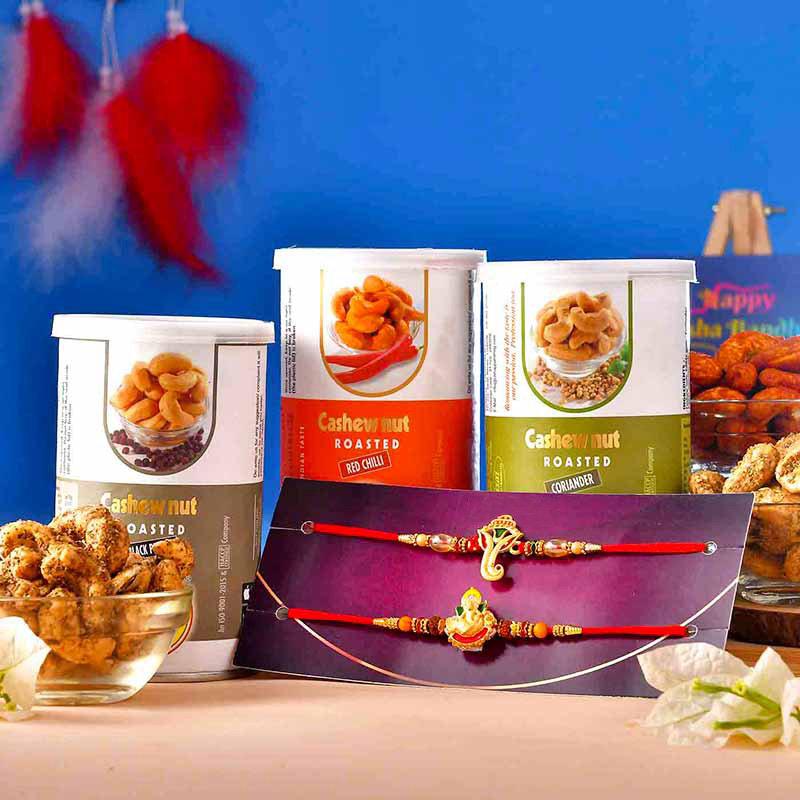 Ganesha Rakhi Roasted Cashews Pack