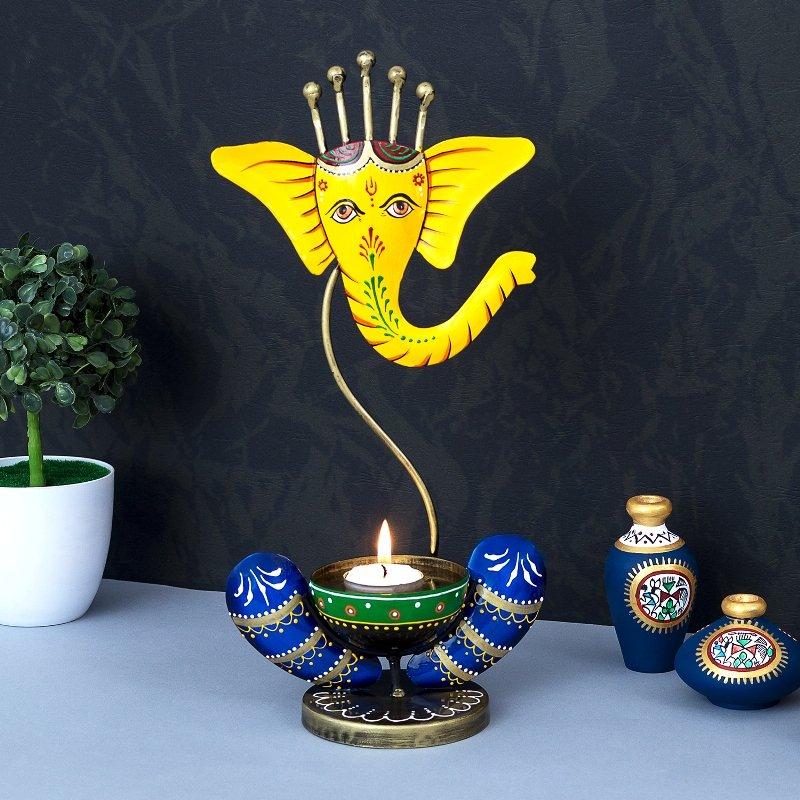 Ganpati Tea Light Candle Holder