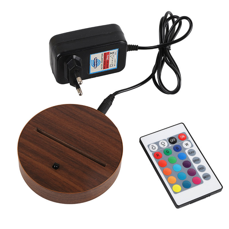 Gayatri Mantra LED Lamp - Adapter with Remote and Stand