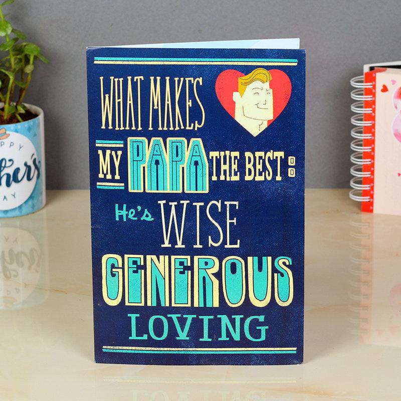 Generous Papa Card