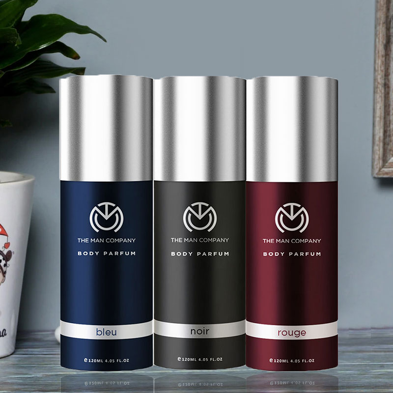 GentleManly Perfume Set - Combo of 3 Body Perfume Bleu and Noir and Rouge