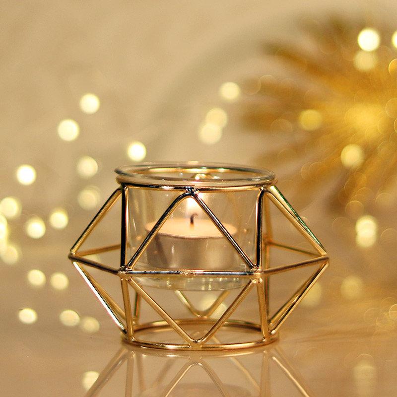 Geometric Candle Holder - Diwali Gift