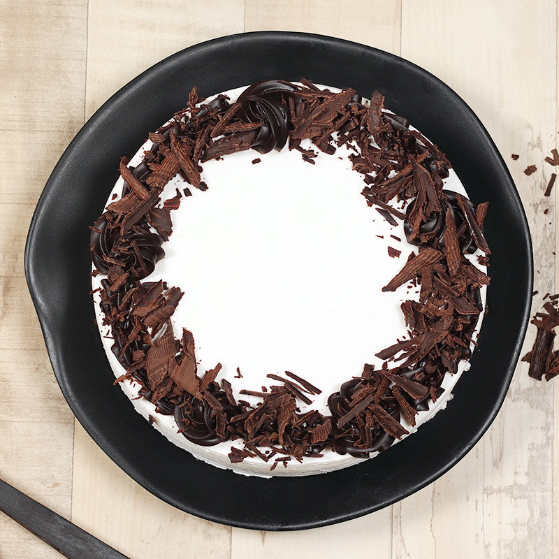 Top view of German Black Forest Birthday Cake