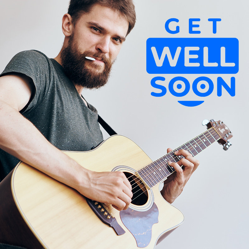 Get Well Soon Wishes With Live Guitarist Performance