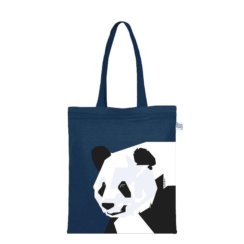 Giant Panda Zip Tote Bag: Giant Panda Zipper Tote Bag