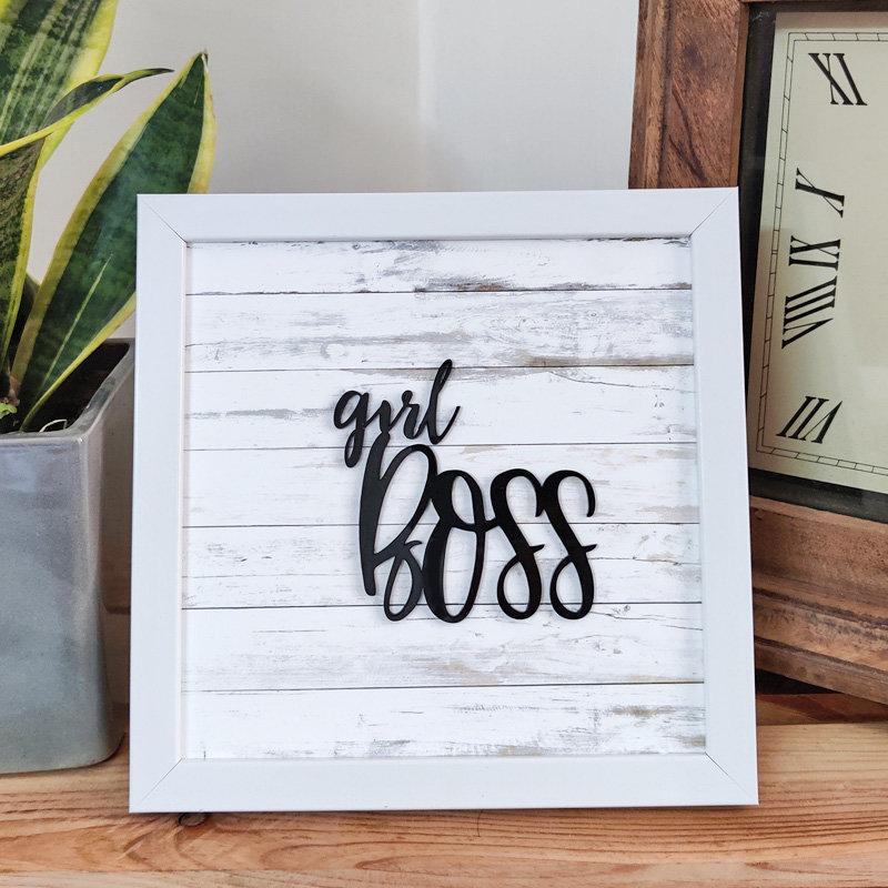 Girl Boss White Decor