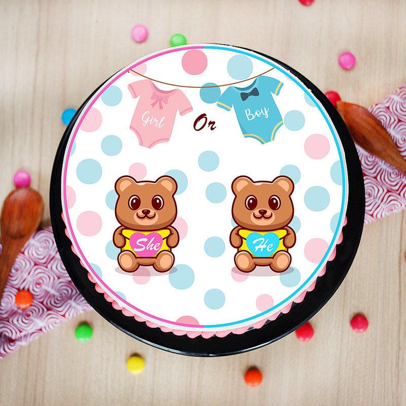 Baby Shower Poster Cake