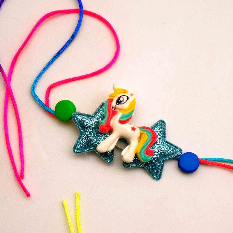 Glittery Kids Unicorn Rakhi To USA Online Delivery