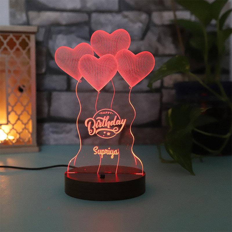 LED Acrylic Multicolour Lamp for Birthday