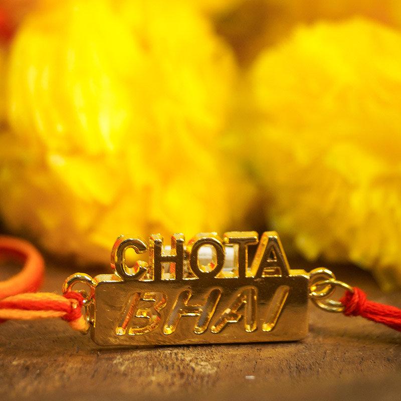 Glossy Chota Bhai Rakhi  - Chota Bhai Rakhi