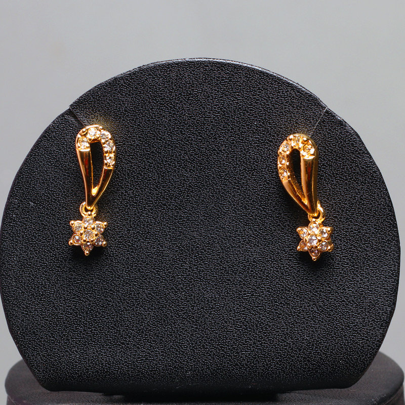 Pair of Earrings Gift Set - First Product of the Golden Peacock Gold Plated Jewellery Set